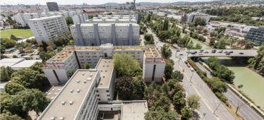 Blick auf ein Wiener Studentenwohnheim.