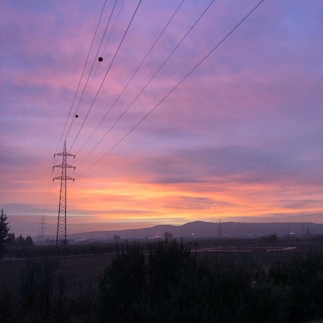 Sonnenaufgang in Spanien.