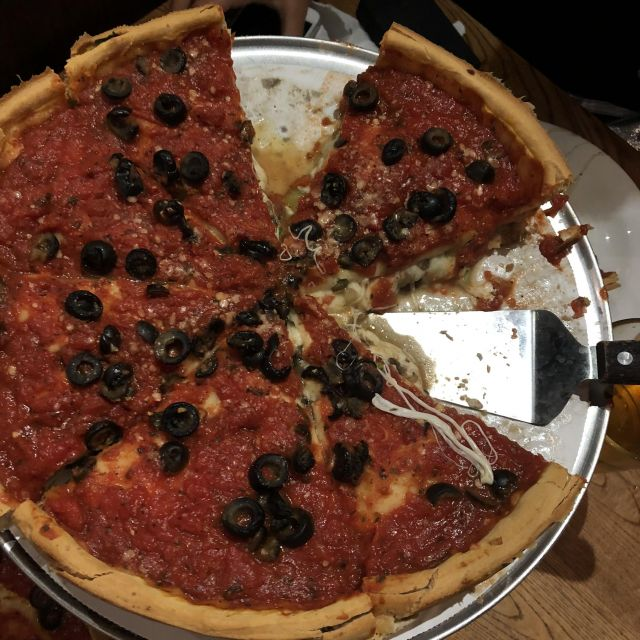Deep Dish Pizza in Chicago.