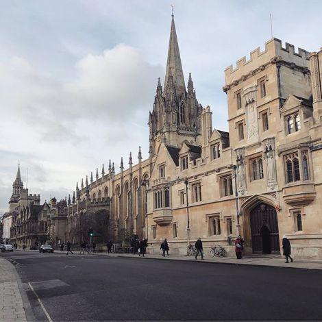 kleiner Spaziergang durchs sonnige Oxford, bevor es heute Nacht nach Spanien…