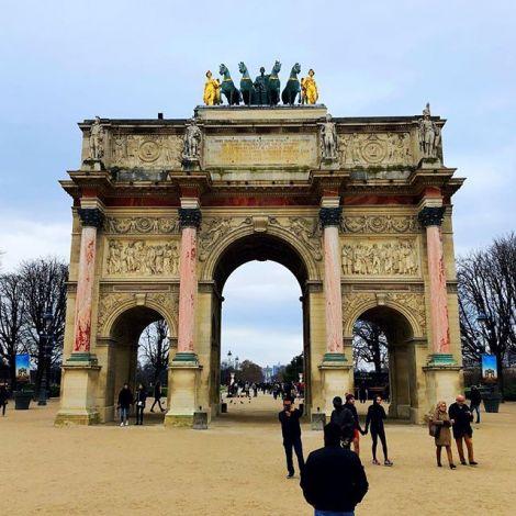 Der Arc de Triomphe in Paris.