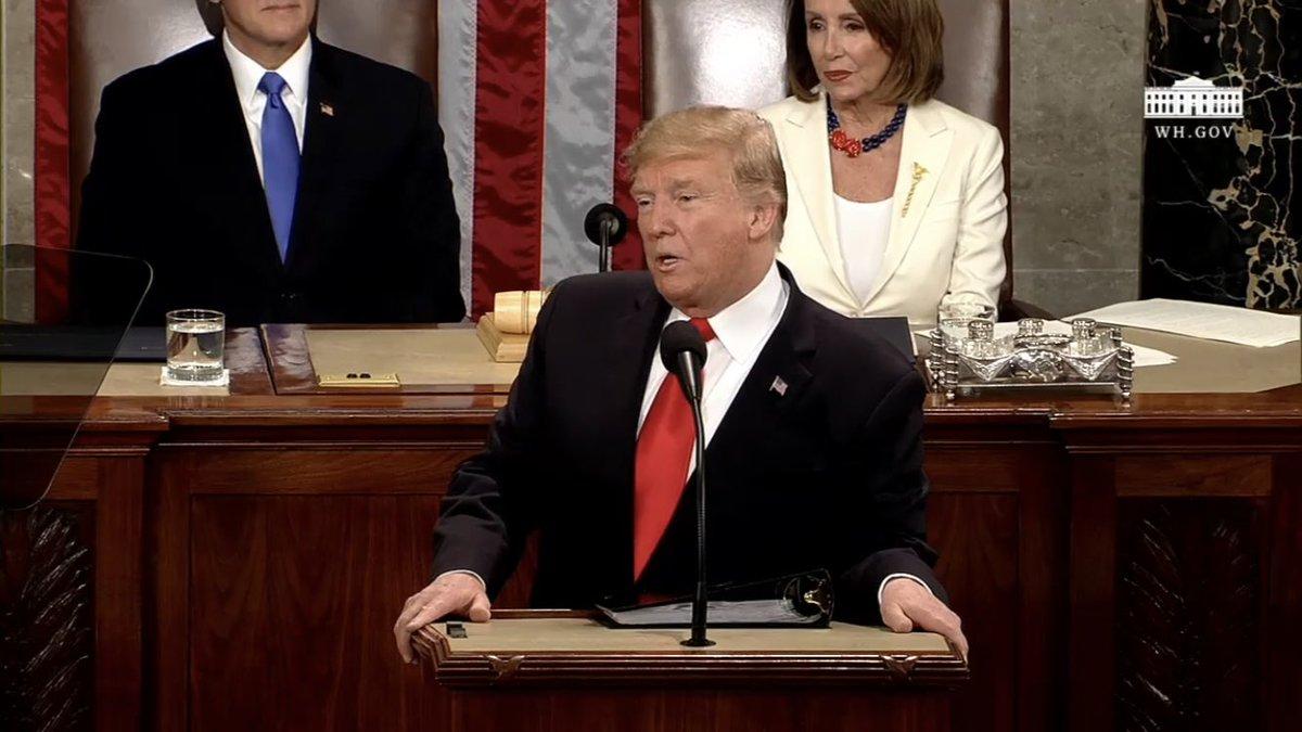Watching the #SOTU address live! #CapitolHill #trump #president #allwhite…