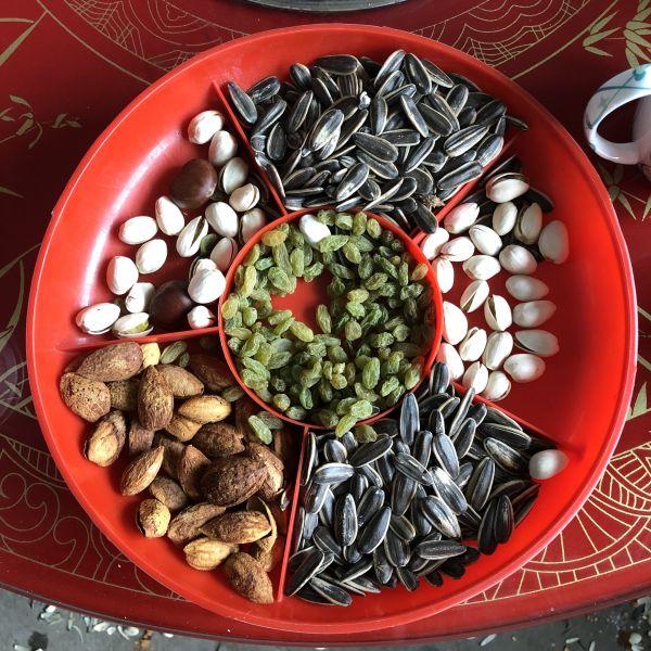 Chinesische Früchte und Nüsse