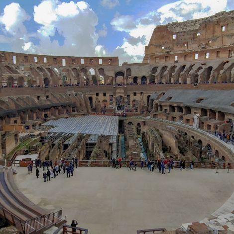 Blick ins Innere des Kolosseums