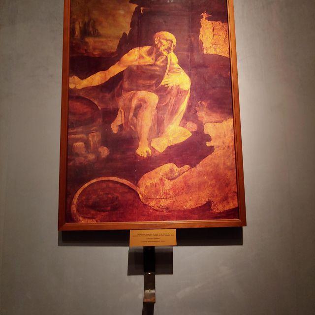 """Auch ein Gemälde von Leonardo da Vinci findet sich in den Vatikanischen Museen, """"Der hl. Hieronymus"""""""