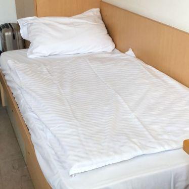 Mein Bett für die nächsten fünf Monate, gemütlich oder?
