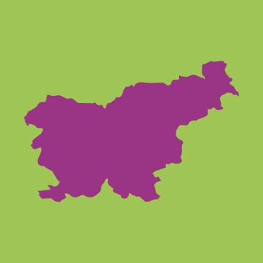 Kartenumriss Slowenien.