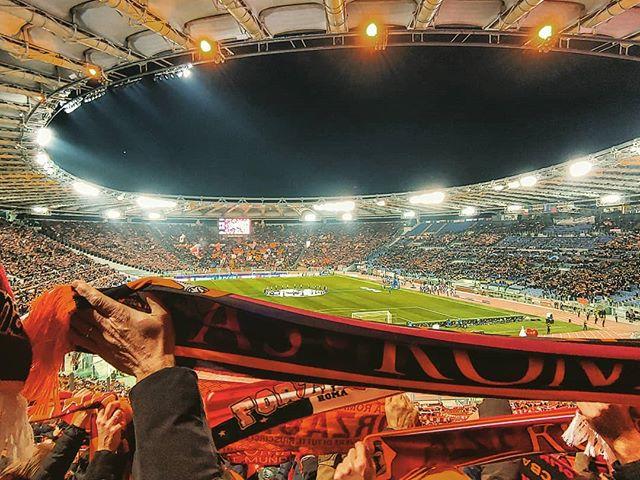 Stadion beim Fußballspiel in Italien.