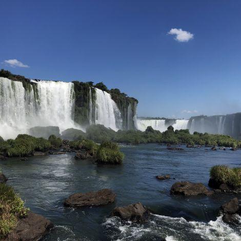 Die Wasserfälle von Iguazu.