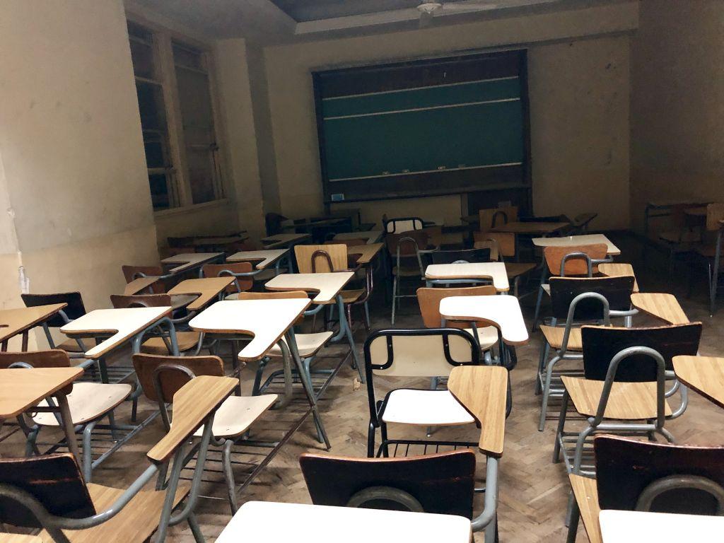 Die Kursräume ähneln mehr einem altem Klassenzimmer als einem Vorlesungssaal