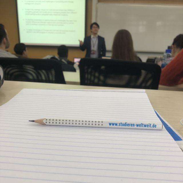 Eine Vorlesung in China