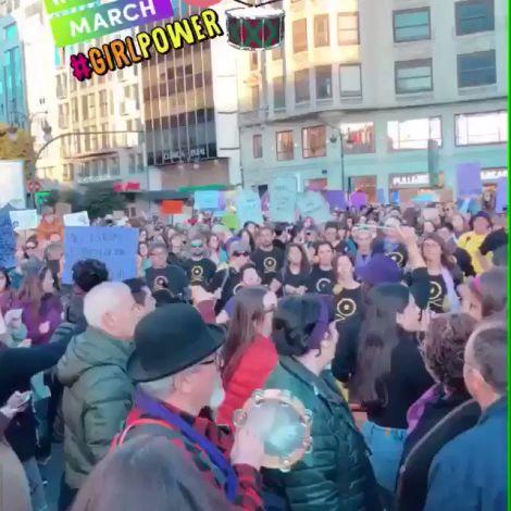 Demonstration zum Weltfrauentag in Spanien.