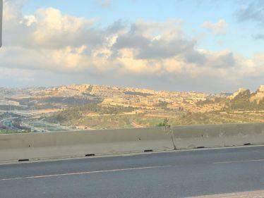 Blick auf Jerusalem bei Sonnenschein.