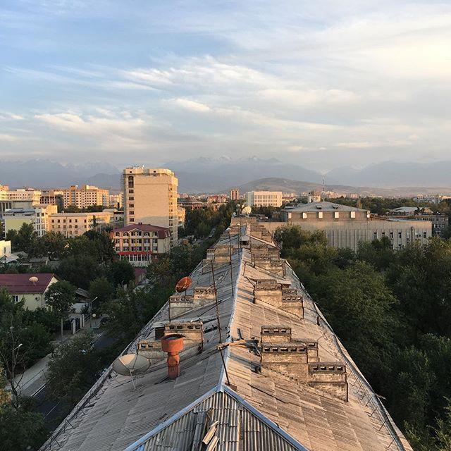 Blick über die Dächer von Bishkek