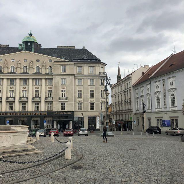 Ein Marktplatz in Tschechien.