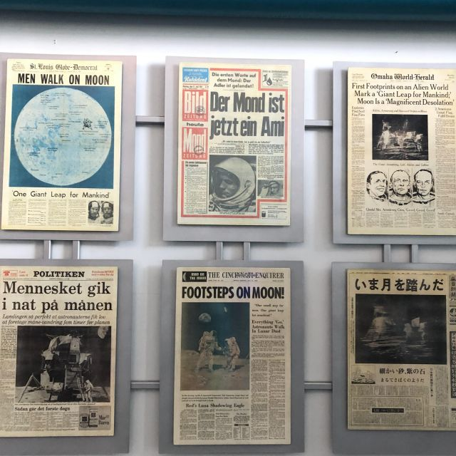 Schlagzeilen zur ersten Mondlandung