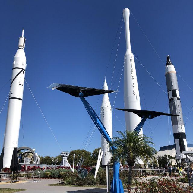 Raketen im Kennedy Space Center.