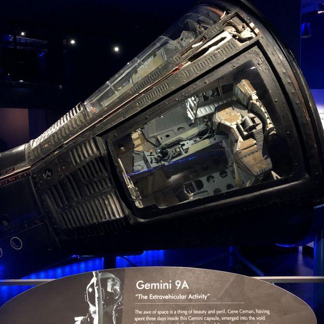 Die Gemini 9A Kapsel im NASA-Center.