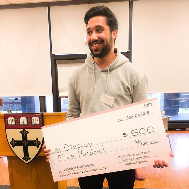 """Awesome day yesterday at the """"Harvard - Public Health Hackathon""""! Our AI…"""