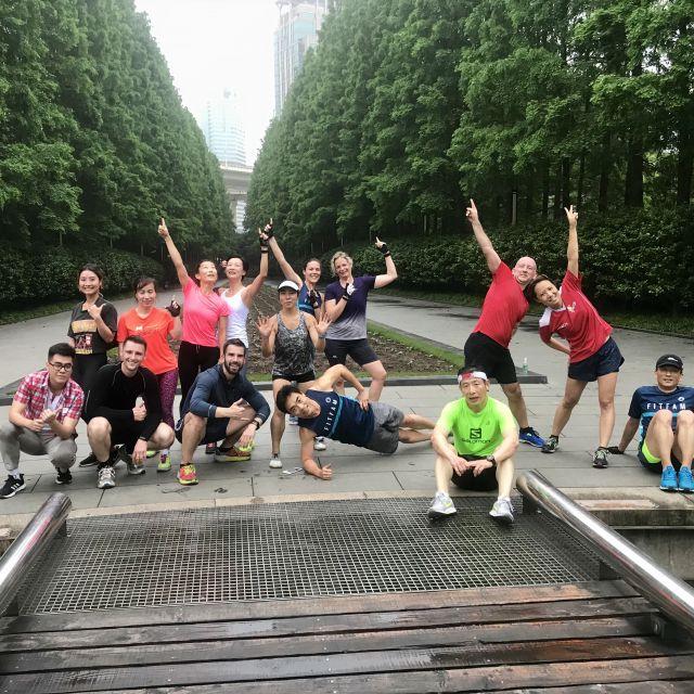 Gute Stimmung beim Workout in Shanghai