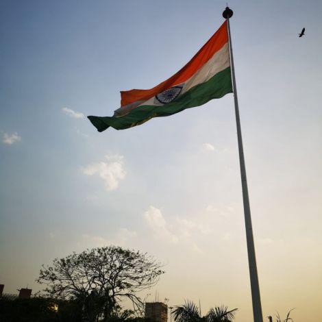 Flagge, Indien, Delhi