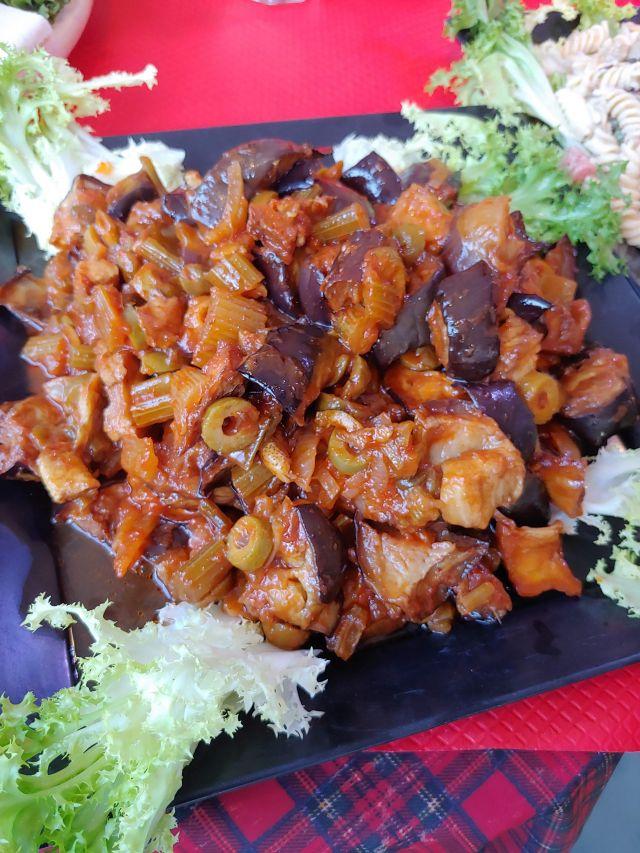 Caponata, verschiedene eingelegte Gemüsesorten