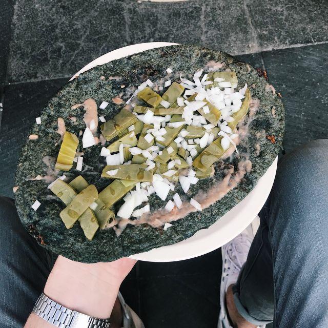 Huarache auf einem Teller