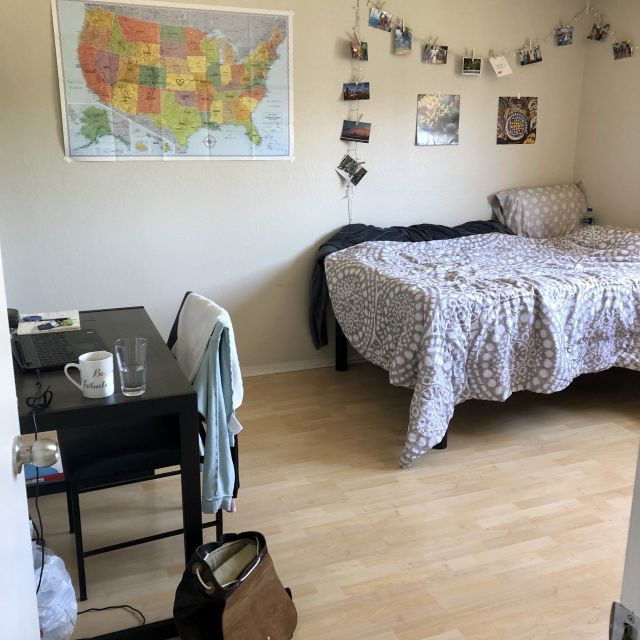 Wohnheimzimmer in den USA.