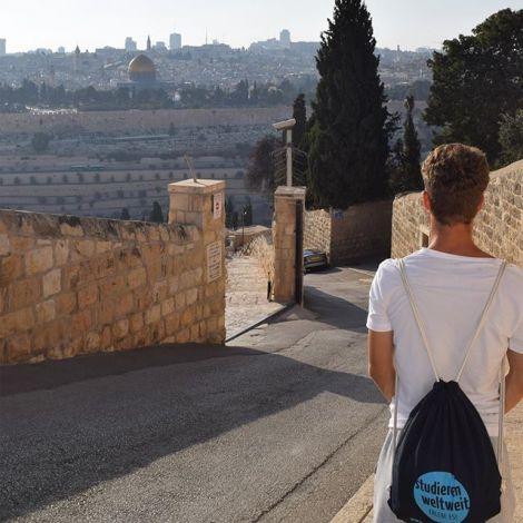 Mit @studierenweltweit auf Entdeckungstour in Jerusalem, hier auf dem Ölberg…