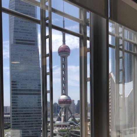 Büroblick auf Oriental Perl Tower