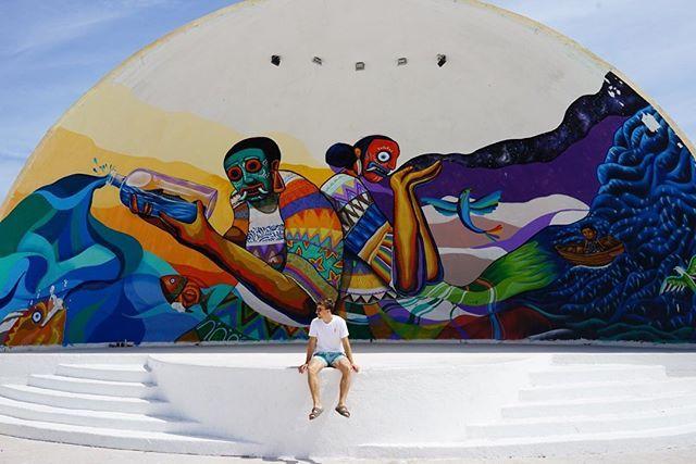 #holbox #mexiko versteht #streetart und #beachlife in Einklang zu bringen. So…