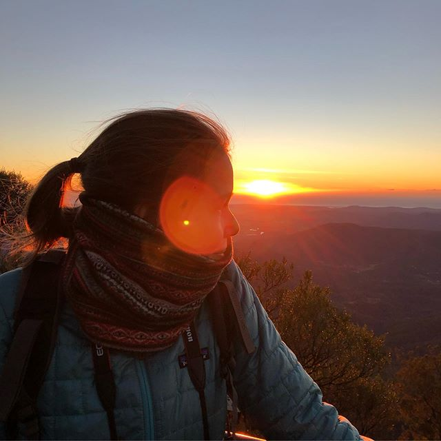Blinded by the sun ...last weekend I've been on my very first sunrise hike.…