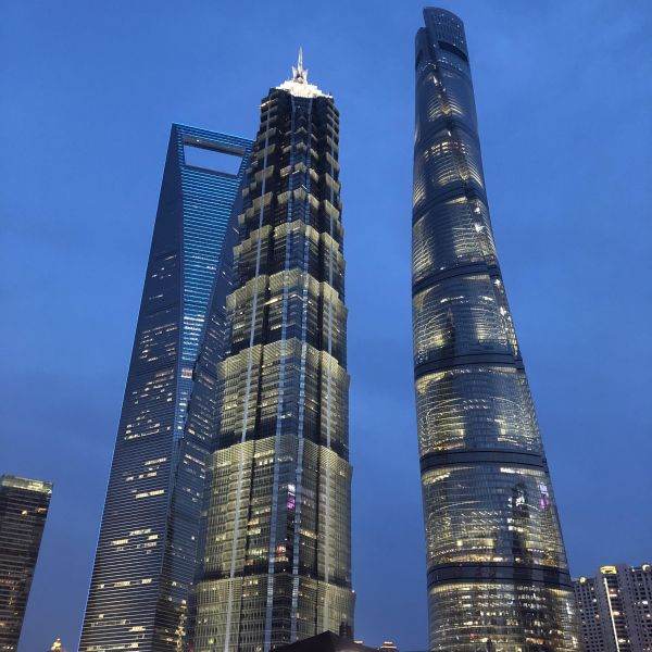 Shanghai Financial Center bei Nacht