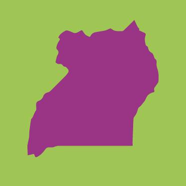 Länderumriss Uganda