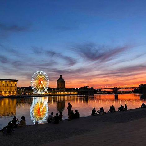 Schon jetzt bin ich verliebt in die Sonnenuntergänge an der Garonne bei einem…