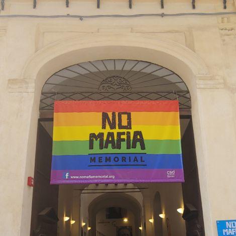 Der Eingang zum No-Mafia Museum, welches sich an sehr prominenter Stelle in der Altstadt Palermos befindet.