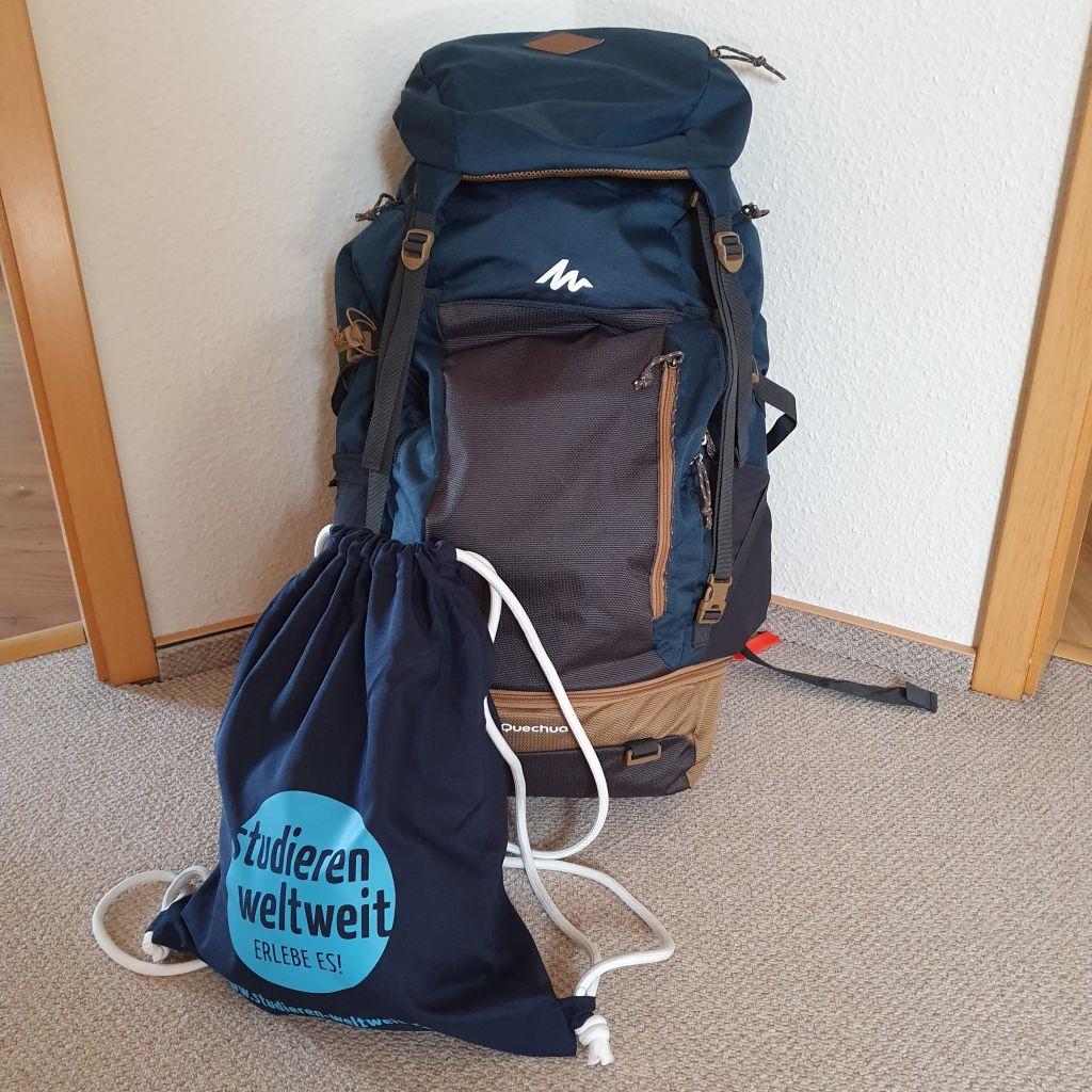 Ein vollgepackter Rucksack