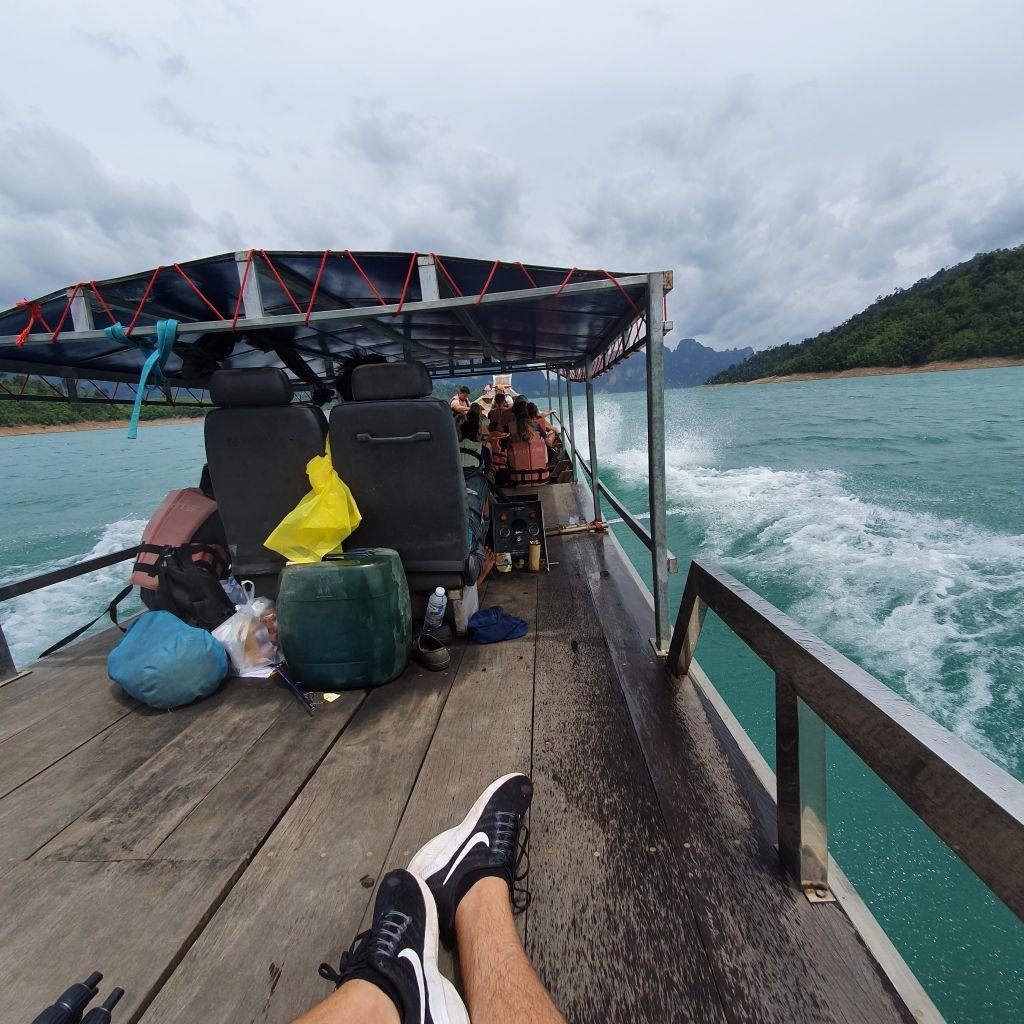 Ich im Speedboot