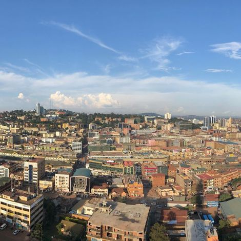 Kampala with a view.…