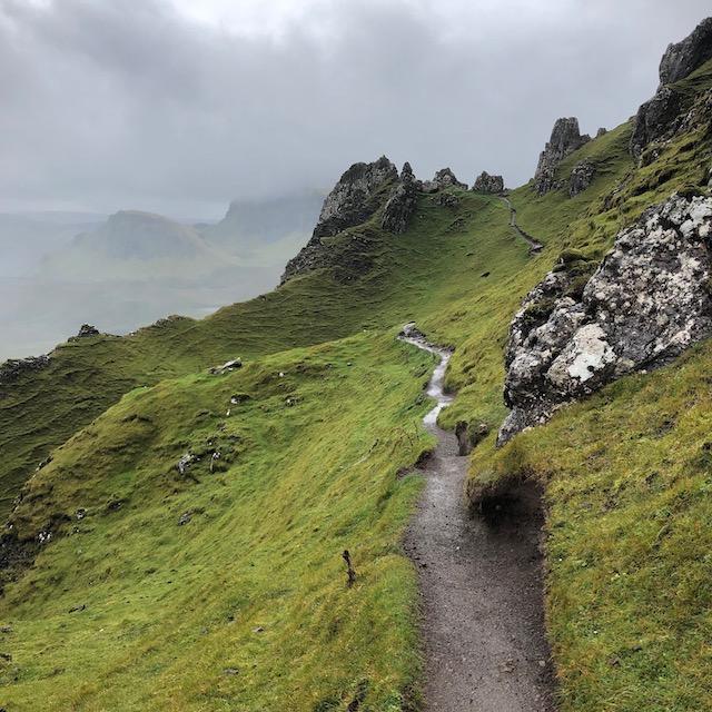 der Quiraing Track auf der Isle of Skye