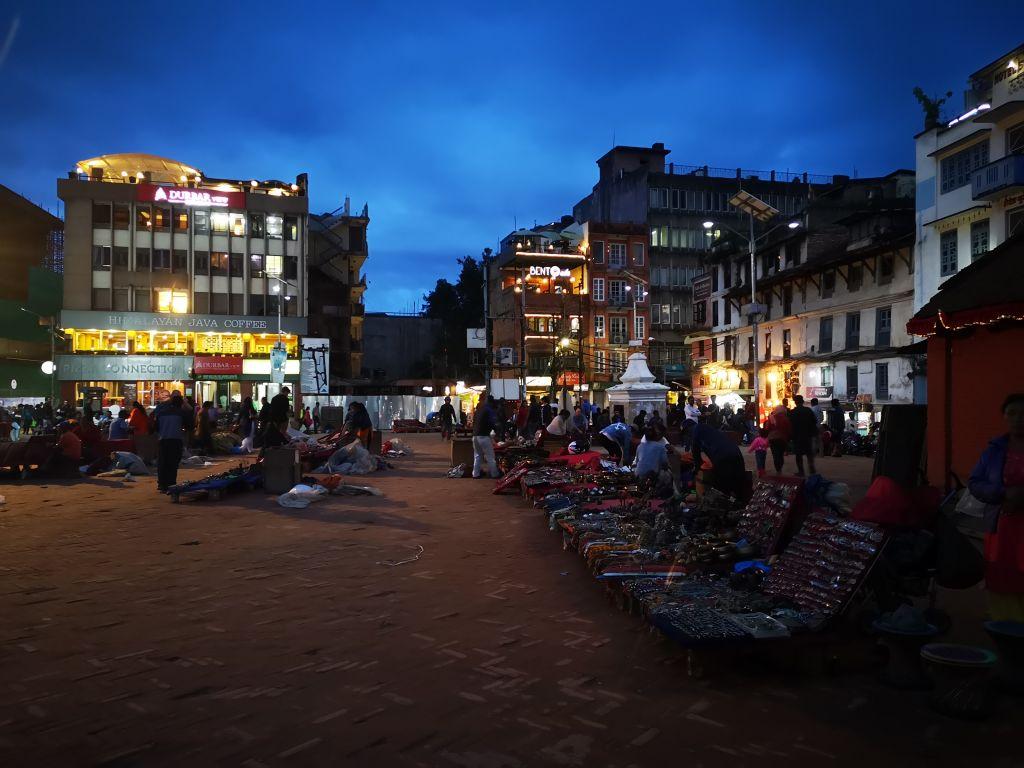 Der Durbar Square am Abend