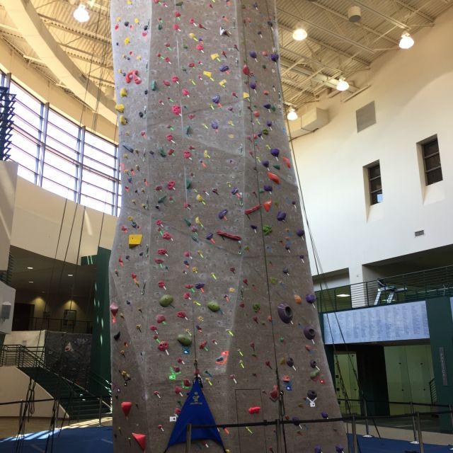 Die Kletterhalle im Sportzentrum der Baylor Universität