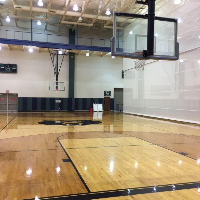 Das Basketball-Feld der Baylor Universität