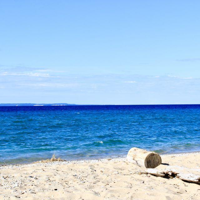 Der Strand des Lake Michigan