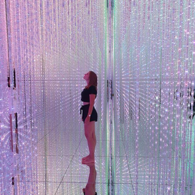 Moderne Kunst - Lichtinstallationen in Tokyo