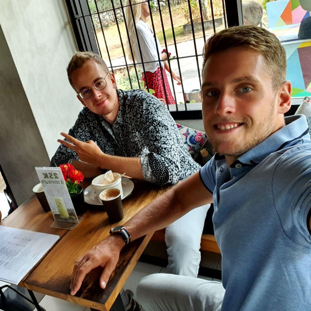 TIm und Ich im Campus Cafe