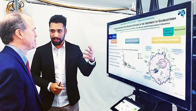 Presenting my work to the director of neurosurgery…