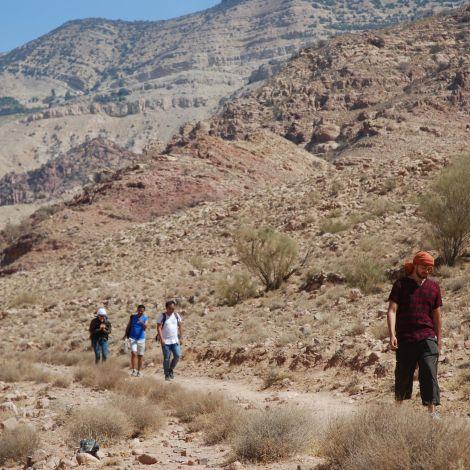 Wüstenwanderung durch das Tal von Dana.#Jordanien #Natur #DAAAD #ErlebeEs