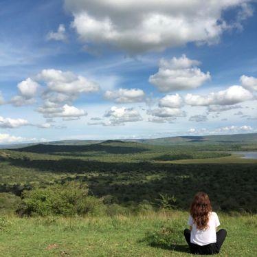 Me admiring Lake Mburo.…
