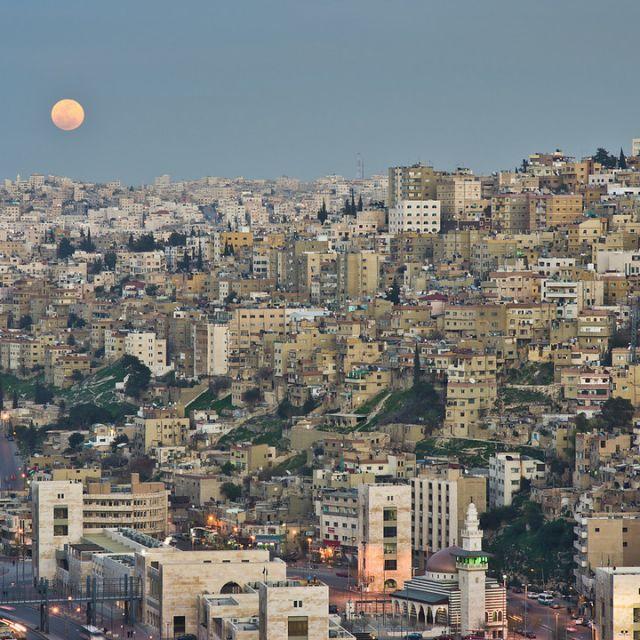 Blick auf das Stadtzentrum von Amman